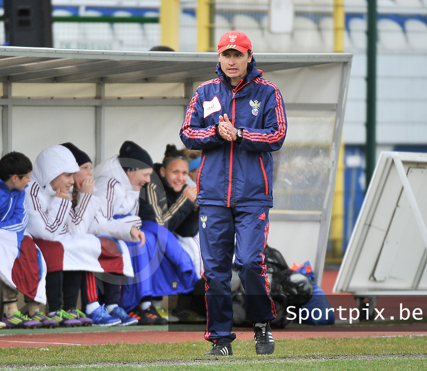 Russia U19 - Belgium U19 : Sergei Nikitin (RUS) ..foto DAVID CATRY / Nikonpro.be