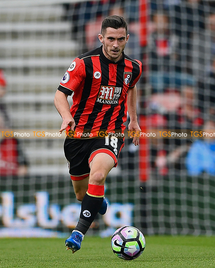 Lewis Cook of AFC Bournemouth during AFC Bournemouth vs Stoke City, Premier League Football at the Vitality Stadium on 6th May 2017