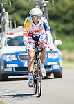 SITTARD, NETHERLANDS - AUGUST 16: Frederik Willems of Belgium riding for Lotto Belisol competes during stage 5 of the Eneco Tour 2013, a 13km individual time trial from Sittard to Geleen, on August 16, 2013 in Sittard, Netherlands. (Photo by Dirk Markgraf/www.265-images.com)