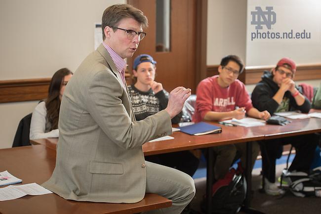 Feb. 5, 2015; Patrick Griffin class. (Photo by Matt Cashore/University of Notre Dame)