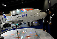 Airbus at Asian Aerospace 2011 (Asian Aerospace International Expo and Congress) held in Hong Kong's Asia World Expo, Hong Kong, China. Airbus is a leading aircraft manufacturer, with the most modern and comprehensive aircraft family. Asian Aerospace is the world's largest single-focused exhibition and congress for the commercial aerospace and civil aviation market with particular emphasis on the Asia-Pacific region. This year a record of 270 exhibitors from 32 countries, and the number of Chinese companies increased by 42% comparing to last year..09 Mar 2011