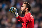 Goalkeeper Sergio Alvarez Conde of RC Celta de Vigo reacts during their Copa del Rey 2016-17 Quarter-final match between Real Madrid and Celta de Vigo at the Santiago Bernabéu Stadium on 18 January 2017 in Madrid, Spain. Photo by Diego Gonzalez Souto / Power Sport Images