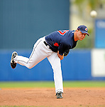 11 March 2008: Cleveland Indians' pitcher Joe Borowski on the mound during a Spring Training game against the Detroit Tigers at Chain of Lakes Park, in Winter Haven Florida. The Tigers rallied to defeat the Indians 4-2 in the Grapefruit League matchup...Mandatory Photo Credit: Ed Wolfstein Photo