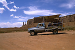 AZ, Monument Valley, tour vehicle    .Photo Copyright: Lee Foster, lee@fostertravel.com, www.fostertravel.com, (510) 549-2202.Image: azmonu210