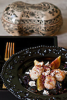 Salad of prawns with figs and goat's cheese by Foodwriter and chef Csaba Dalla Zorza