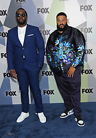 NEW YORK, NY - MAY 14: Sean Combs and DJ Khaled at the 2018 Fox Network Upfront at Wollman Rink, Central Park on May 14, 2018 in New York City.  <br /> CAP/MPI/PAL<br /> &copy;PAL/MPI/Capital Pictures