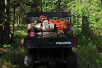 Polaris 6x6 loaded with birch.