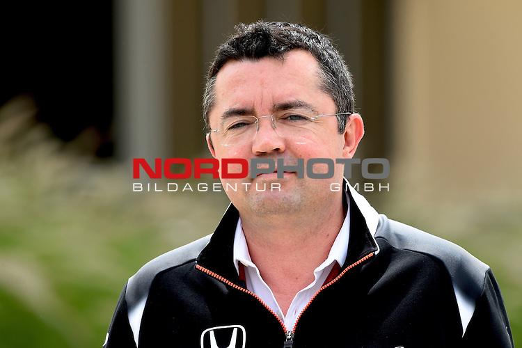 01.04.. bis 03.04.2016 International Circuit, Sakhir, BRN, FIA, Formel 1, Grand Prix von Bahrain, Race 03, im Bild<br /> Eric Boullier (McLaren)<br /> Foto &copy; nordphoto /  Bratic