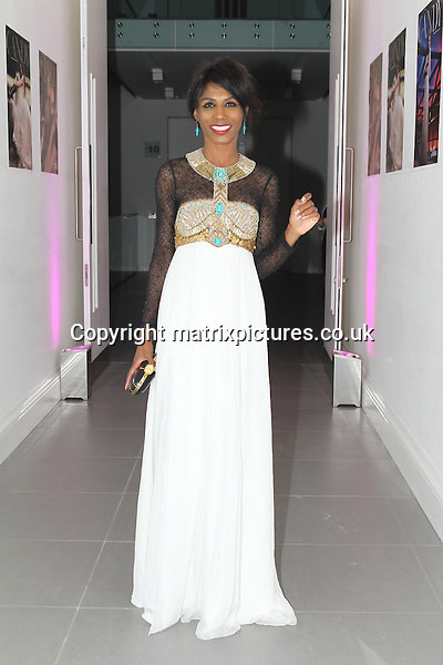 NON EXCLUSIVE PICTURE: TREVOR ADAMS / MATRIXPICTURES.CO.UK<br /> PLEASE CREDIT ALL USES<br /> <br /> WORLD RIGHTS<br /> <br /> British-American singer Sinitta Renay Malone attending the CANDY Magazine Autumn/Winter 2013 Launch Party, hosted by Nick Candy at the Saatchi Gallery in King's Road, London.<br /> <br /> OCTOBER 15th 2013<br /> <br /> REF: MTX 136759