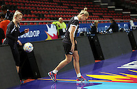 04.08.2015 Silver Ferns Casey Kopua during Silver Ferns training ahead of the 2015 Netball World Champs at All Phones Arena in Sydney, Australia. Mandatory Photo Credit ©Michael Bradley.