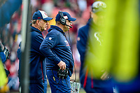 Landover, MD - November 18, 2018: Houston Texans head coach Bill O'Brien on the sideline during second half action of game between the Houston Texans and the Washington Redskins at FedEx Field in Landover, MD. The Texans defeated the Redskins 23-21. (Photo by Phillip Peters/Media Images International)