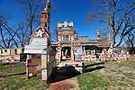Folk Art icon Miss Margaret's Grocery in dire need of repairs and preservation on Highway 61N in Vicksburg MS. Jan 25 ,2011. Photo©Suzi Altman Margaret's Grocery Store is now a shrine to Rev. Dennis and Miss Margaret. For over 20 years they welcomed travelers from all over the world to share their beliefs and artistic vision. The Mississippi Folk Art Foundation has been established to help preserve this important folk art creation.To help contact suzisnaps@aol.com