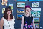Anne Mirch and Cindy Gunn at the Midtown Art Walk on Thursday afternoon in Reno, June 28, 2018.