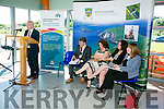 Launching  of the Kerry Economic and Community Plan 2012 - 2022 at the Wetlands Centre on Monday. Pictured speakers l-r  Director Of Services, Michael Scannell, Cathaoirleach Of Kerry County Council, Cllr Michael O'Shea, Vice President of IT Tralee, Brid McElligott, Chief Executive of Kerry County Council, Moira Murrell and Kate Murphy of Southern Scientific.