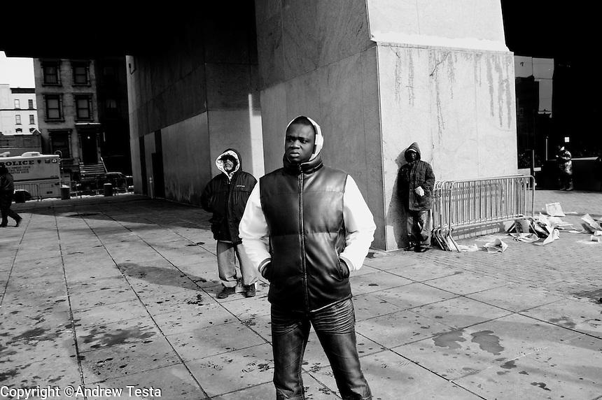 USA. Manhattan. 20th January 2009.Watching the inauguration, Harlem..©Andrew Testa