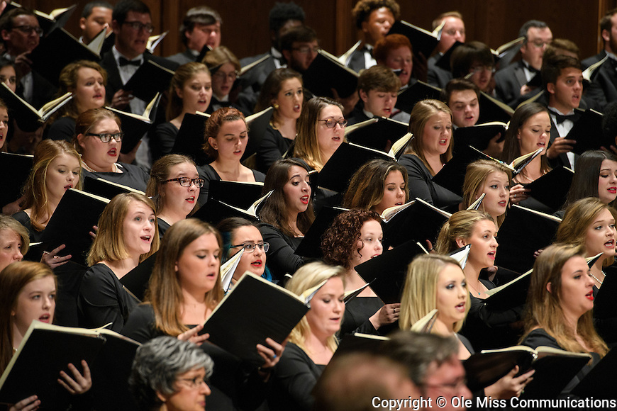 "The University of Mississippi Chorus performs Carl Off's ""Carmina Burana"" at the Ford Center. Photo by Thomas Graning/Ole Miss Communications"