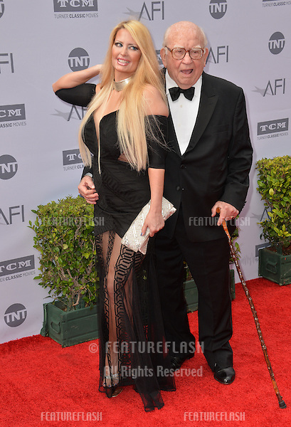 LOS ANGELES, CA. June 9, 2016: Actor Ed Asner &amp; actress Yvette Rachelle at the 2016 American Film Institute Life Achievement Award gala honoring John Williams at the Dolby Theatre, Hollywood.<br /> Picture: Paul Smith / Featureflash