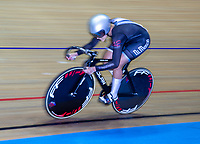 26th January 2020; National Cycling Centre, Manchester, Lancashire, England; HSBC British Cycling Track Championships; Female team sprint round two heat 2 Serena Natt  (picture with sync slower shutter speed and panning)