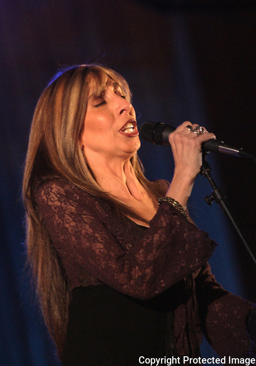 U.S. born blues singer Betsy Pecanins sings a blues during a concert in Mexico City, October 21, 2005. Pecanins is living in Mexico since 1977 and she has recorded 13 albums since then. Photo by Heriberto Rodriguez