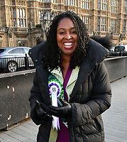Dawn Butler<br /> Female Labour MPs and members of the Labour Party at a photocall launching a year long campaign to celebrate the centenary of women's suffrage, at House of Commons, London on February 06, 2018.<br /> CAP/JOR<br /> &copy;JOR/Capital Pictures