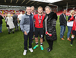 Sheffield United's Harry Chapman and his family during the League One match at Bramall Lane, Sheffield. Picture date: April 30th, 2017. Pic David Klein/Sportimage
