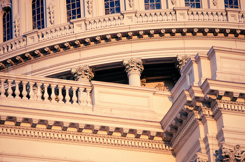 Architectural detail of United States Capitol building. #6717. Washington DC.