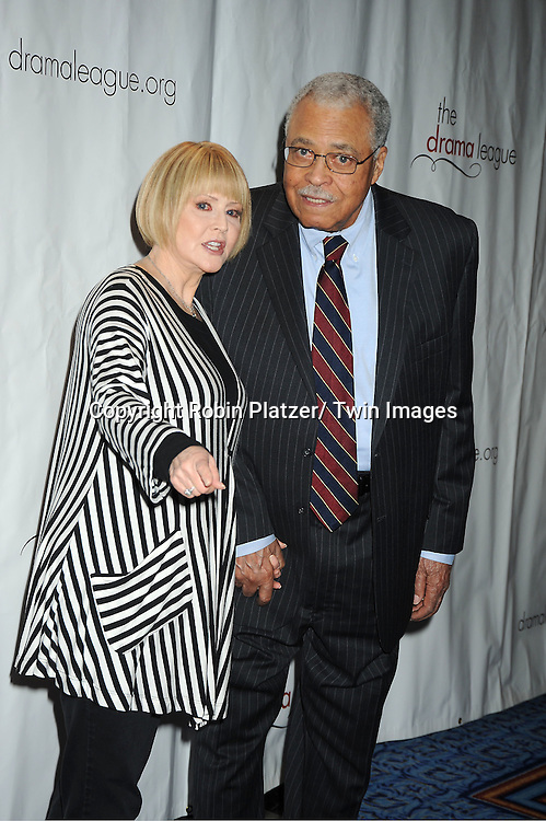 James Earl Jones and wife Cecilia Hart attending the Drama League Awards Ceremony and Luncheon at The Marriott Marquis Hotel in New York on May 20, 2011.