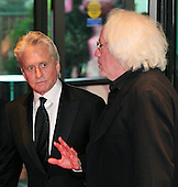 Michael Douglas shares some thoughts with Leon Wieseltier, literary editor of The New Republic, as he arrives at the Washington Hilton Hotel for the 2010 White House Correspondents Association Annual Dinner in Washington, D.C. on Saturday, May 1, 2010..Credit: Ron Sachs / CNP.(RESTRICTION: NO New York or New Jersey Newspapers or newspapers within a 75 mile radius of New York City)