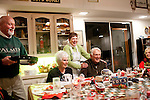 A baked potato dinner party at Jeannie and Larry Klein's house following the lit boat parade in Sun City, Arizona, an age-restricted city of more than 40,000 retirees, December 2011.