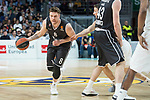 Real Madrid Jaycee Carroll and Brose Bamberg Lucca Steiger and Leon Radosevic during Turkish Airlines Euroleague match between Real Madrid and Brose Bamberg at Wizink Center in Madrid, Spain. April 06, 2018. (ALTERPHOTOS/Borja B.Hojas)