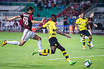 Borussia Dortmund Midfielder Ousmane Dembele (R) in action against AC Milan Midfielder Ricardo Rodriguez (L) during the International Champions Cup 2017 match between AC Milan vs Borussia Dortmund at University Town Sports Centre Stadium on July 18, 2017 in Guangzhou, China. Photo by Marcio Rodrigo Machado / Power Sport Images