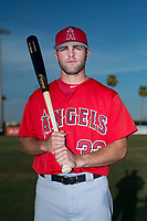 AZL Angels infielder Michael Stefanic (32) poses for a photo before an Arizona League game against the AZL Padres 2 at Tempe Diablo Stadium on July 18, 2018 in Tempe, Arizona. The AZL Padres 2 defeated the AZL Angels 8-1. (Zachary Lucy/Four Seam Images)