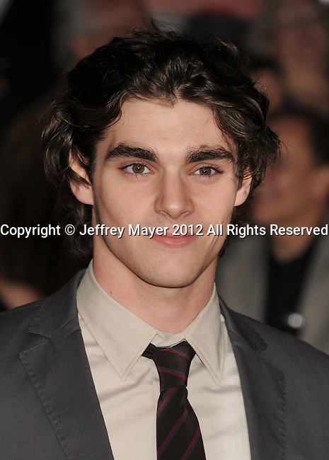LOS ANGELES, CA - FEBRUARY 22: RJ Mitte attends the 'John Carter' Los Angeles premiere held at the Regal Cinemas L.A. Live on February 22, 2012 in Los Angeles, California.