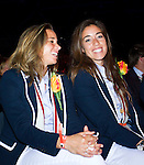 Nederland, Amsterdam, 4 juli 2012.Seizoen 2012/2013.NOC NSF het Olympic en Paralympic Team Netherlands.Ellen Hoog en Naomi van As in hun nieuwe Olympische outfit