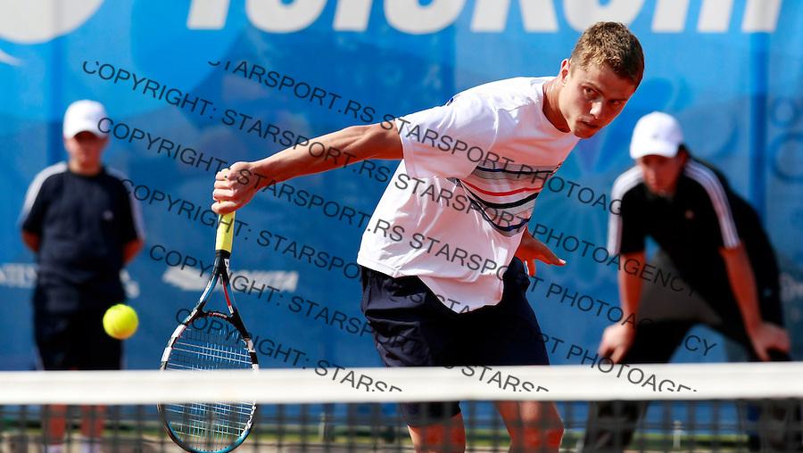 Tenis.ATP Serbia Open 2009.Flavio Cipolla Vs. Pavel Chekhov, kvalifikacije.Pavel Chekhov.Beograd, 03.05.2009..foto: Srdjan Stevanovic/Starsportphoto.com ©