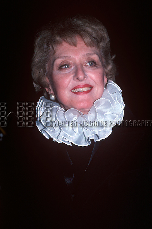 Celeste Holm in New York City in Febuary of 1981.