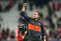 Chelsea manager Frank Lampard celebrates the victory after Lille OSC vs Chelsea, UEFA Champions League Football at Stade Pierre-Mauroy on 2nd October 2019