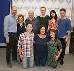 The Cast: Daniel Jenkins, Ann Arvia, Blake Zolfo, Joel Blum, Jeffry Denman, Karen Ziemba, Dee Roscioli, Laura Darrell, and Brandon Flynn attends the photocall for the Vineyard Theatre production of 'Kid Victory' at Ripley Grier on January 5, 2017 in New York City.
