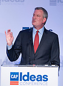 Mayor Bill de Blasio (Democrat of New York City) makes remarks at the Center for American Progress' 2018 Ideas Conference at the Renaissance Hotel in Washington, DC on Tuesday, May 15, 2018.<br /> Credit: Ron Sachs / CNP<br /> (RESTRICTION: NO New York or New Jersey Newspapers or newspapers within a 75 mile radius of New York City)