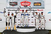 GTLM Podium, #66 Chip Ganassi Racing Ford GT, GTLM: Dirk Müller, Joey Hand, #3 Corvette Racing Chevrolet Corvette C7.R, GTLM: Antonio Garcia, Jan Magnussen, #912 Porsche Team North America Porsche 911 RSR, GTLM: Laurens Vanthoor, Earl Bamber