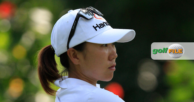I.K. Kim (KOR) on the 9th tee during Round 3 of the HSBC Women's Champions at the Sentosa Golf Club, The Serapong Course in Singapore on Saturday 7th March 2015.<br /> Picture:  Thos Caffrey / www.golffile.ie