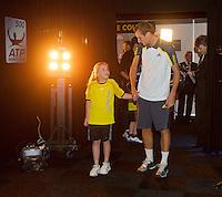 14-02-13, Tennis, Rotterdam, ABNAMROWTT, Thiemo De Bakker walk on.