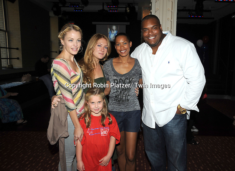 Bree Williamson, BethAnn Bonner, Kearran Giovanni and Sean Ringgold and Stephanie Schmahl attend the Daytime Stars and Strikes Charity Bowling Event benefitting the American Cancer Society on .October 9, 2011 at Bowlmor Lanes in Times Square.