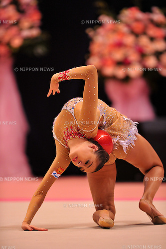 Evgeniya Kanaeva (RUS), OCTOBER 28, 2011 - Rhythmic Gymnastics : AEON CUP 2011 Worldwide R.G. Club Championships at Tokyo Metropolitan Gymnasium, Tokyo, Japan. (Photo by Jun Tsukida/AFLO SPORT) [0003]