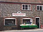 A51P12 Butcher and grazier shop Binham Priory Norfolk England