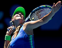 VICTORIA AZARENKA (BLR) against AGNIESZKA RADWANSKA (POL)  in the Quarter Finals of the Women's Singles. Victoria Azarenka beat Agnieszka Radwanska   6-7 6-0 6-2 ..24/01/2012, 24th January 2012, 24.01.2012 - Day 9..The Australian Open, Melbourne Park, Melbourne,Victoria, Australia.@AMN IMAGES, Frey, Advantage Media Network, 30, Cleveland Street, London, W1T 4JD .Tel - +44 208 947 0100..email - mfrey@advantagemedianet.com..www.amnimages.photoshelter.com.