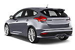 Car pictures of rear three quarter view of a 2015 Ford Focus St 5 Door Hatchback Angular Rear