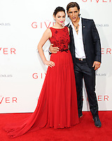 NEW YORK CITY, NY, USA - AUGUST 11: Odeya Rush and Brenton Thwaites arrive at the New York Premiere Of The Weinstein Company's 'The Giver' held at the Ziegfeld Theatre on August 11, 2014 in New York City, New York, United States. (Photo by Celebrity Monitor)
