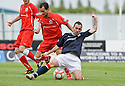 21/08/2010   Copyright  Pic : James Stewart.sct_jsp005_falkirk_v_stirling_alb  .:: MARK STEWART CHALLENGES HEEKING JEROME  :: .James Stewart Photography 19 Carronlea Drive, Falkirk. FK2 8DN      Vat Reg No. 607 6932 25.Telephone      : +44 (0)1324 570291 .Mobile              : +44 (0)7721 416997.E-mail  :  jim@jspa.co.uk.If you require further information then contact Jim Stewart on any of the numbers above.........