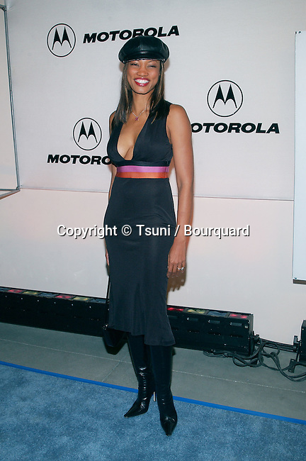 Garcelle Beauvais arriving at the Motorola 3rd annual party, Toys for Tots at the Highland at Highland and Hollywood in Los Angeles. December 6, 2001. BeauvaisGarcelle01A.JPG